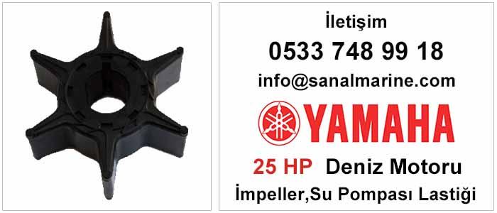 Yamaha 25 HP Deniz Motoru İmpeller Su Pompası Lastiği