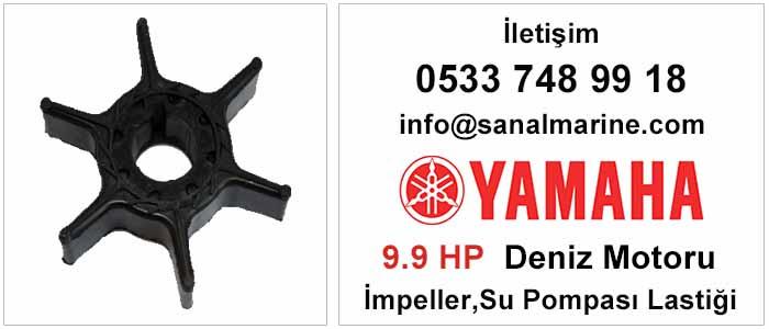 Yamaha 9.9 HP İki ve Dört Zamanlı Deniz Motoru İmpeller Su Pompası Lastiği
