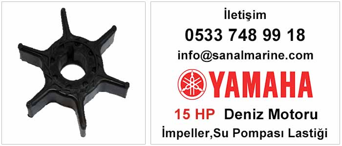 Yamaha 15 HP İki ve Dört Zamanlı Deniz Motoru İmpeller Su Pompası Lastiği