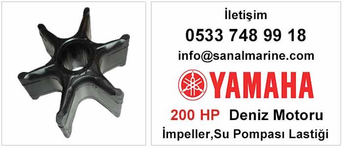 Yamaha 200 HP Deniz Motoru İmpeller Su Pompası Lastiği