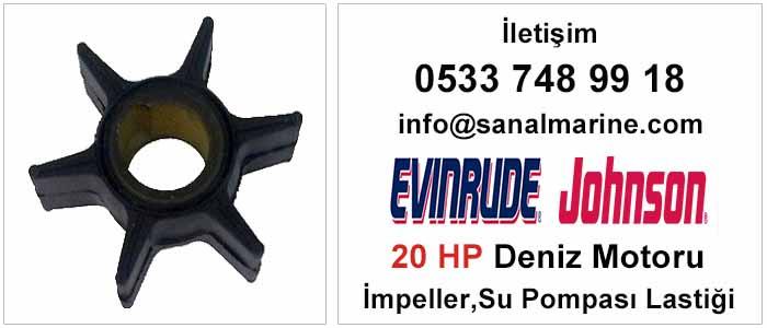 Evinrude - Johnson 20 HP Deniz Motoru İmpeller Su Pompası Lastiği