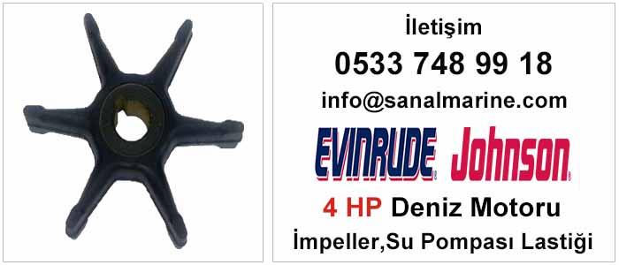 Evinrude - Johnson 4 HP Deniz Motoru İmpeller Su Pompası Lastiği 500350