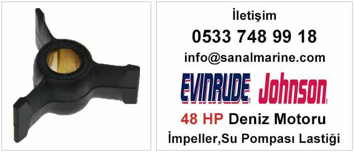 Evinrude - Johnson 48 HP Deniz Motoru İmpeller Su Pompası Lastiği 500373