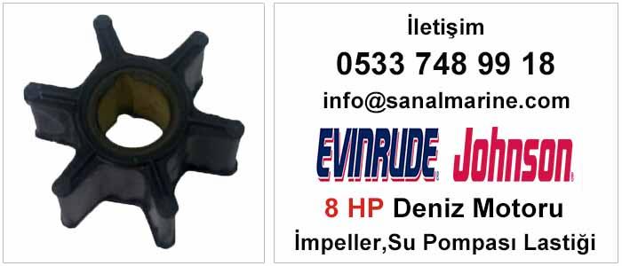 Evinrude - Johnson 8 HP Deniz Motoru İmpeller Su Pompası Lastiği