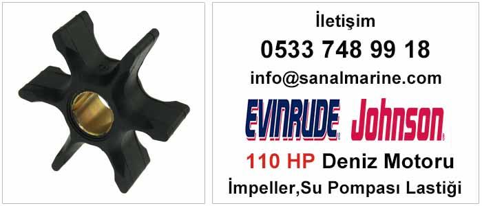 Evinrude - Johnson 110 HP Deniz Motoru İmpeller Su Pompası Lastiği