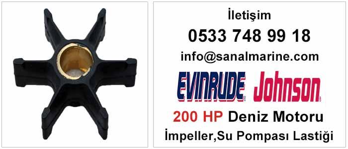 Evinrude - Johnson 200 HP Deniz Motoru İmpeller Su Pompası Lastiği 500308