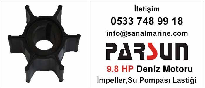Parsun 9.8 HP Deniz Motoru İmpeller Su Pompası Lastiği