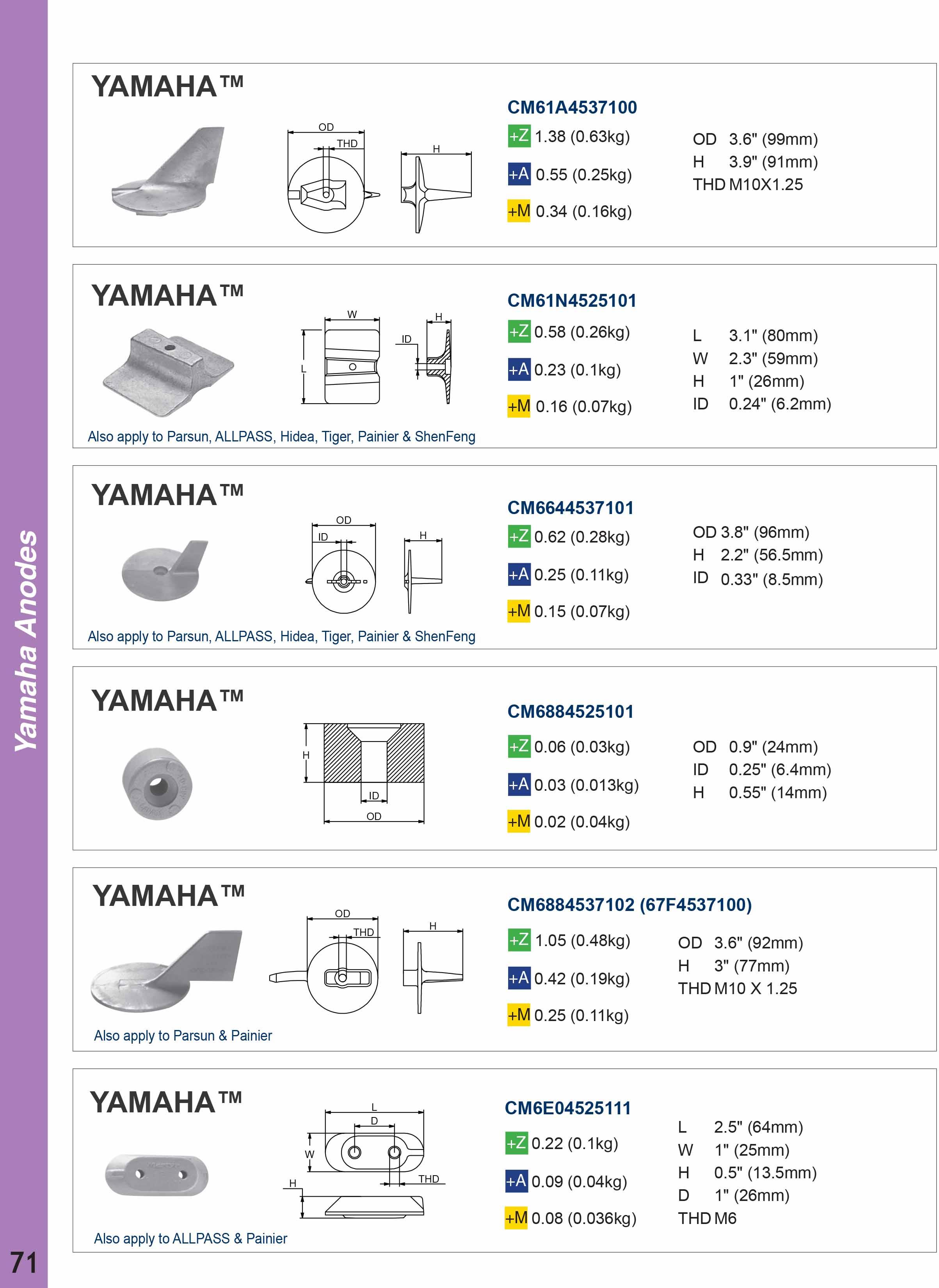 Yamaha Deniz Motoru Tutyaları