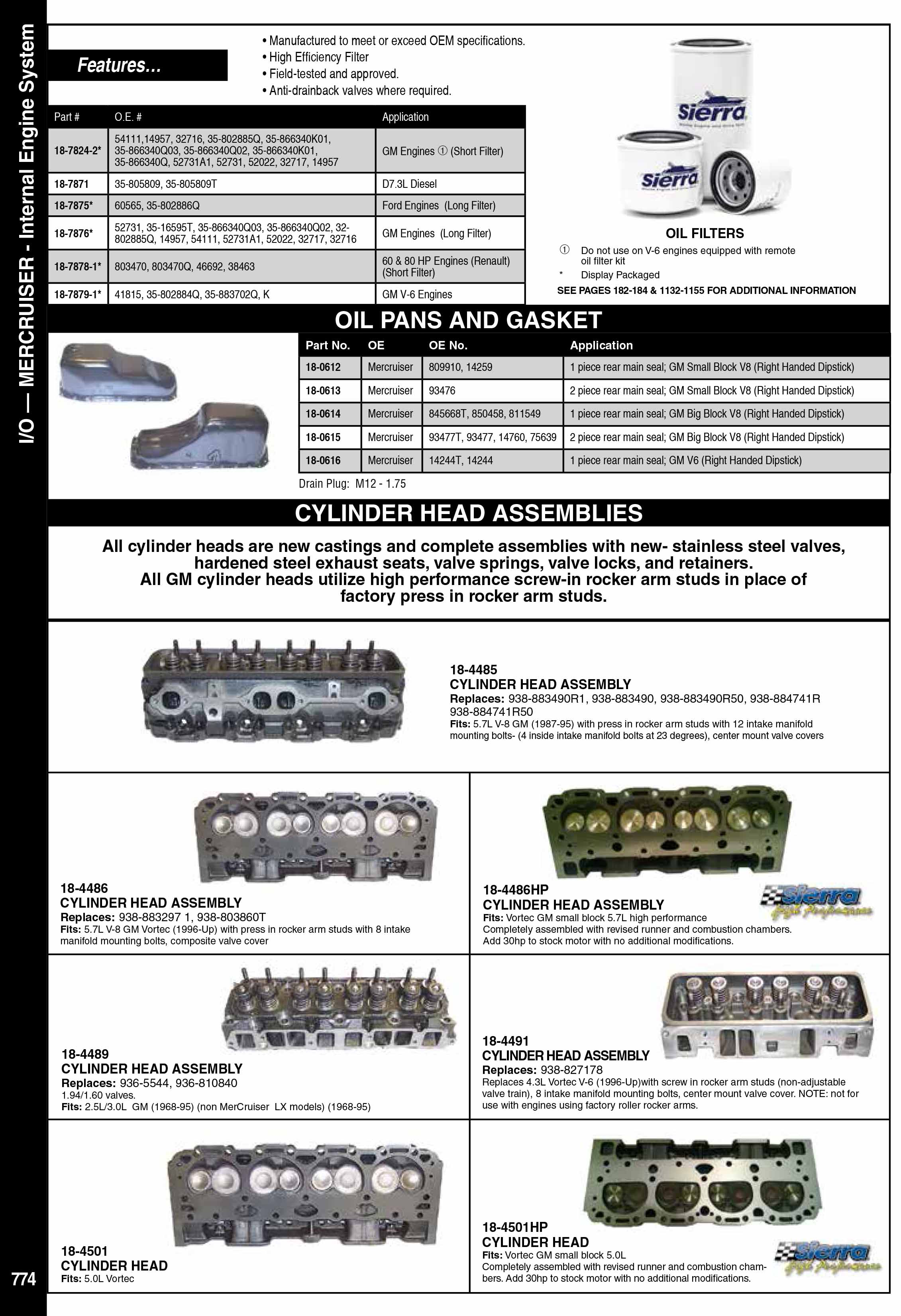Mercruiser İnternal Motor Parçaları