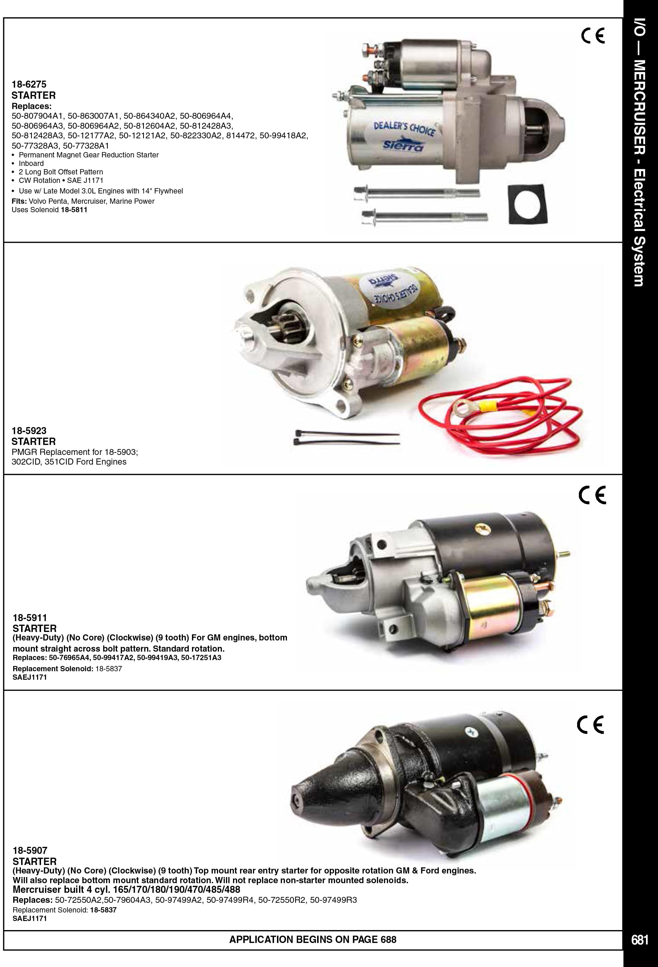 Mercruiser Elektrik Sistem Parçaları